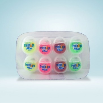 Fio Dental Mini 12m | Box com 8 unidades