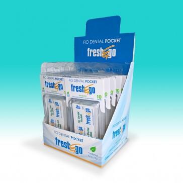 Display Fio Dental Pocket - 12 x 10 Sachês